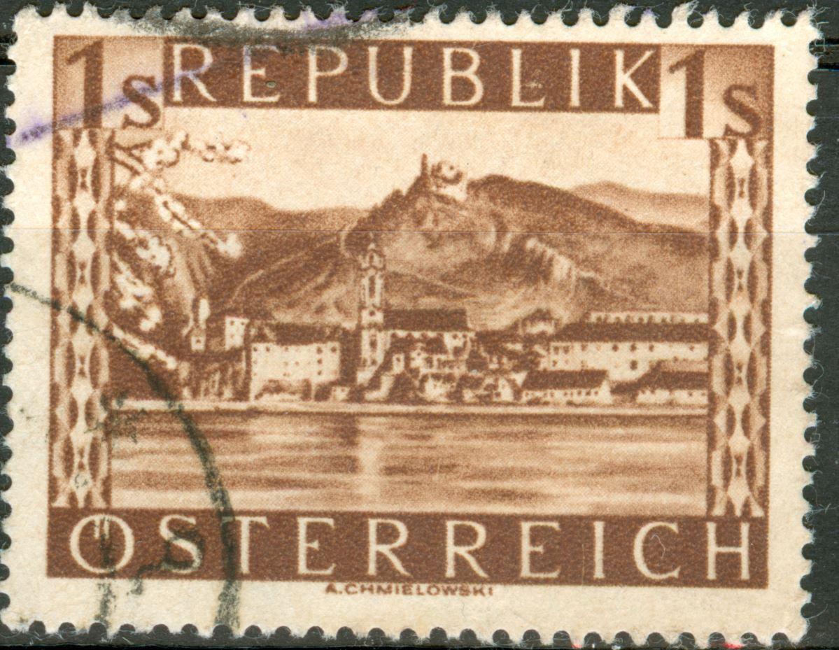 Landschaftsbilder Schillingausgaben ANK 767 - 774 At_1945_1s_10a