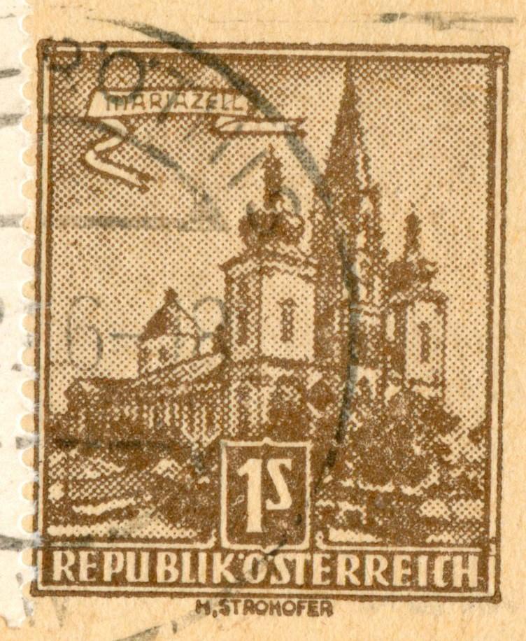 """Bauwerke und Baudenkmäler """"Bautenserie"""" - Seite 2 At_1957_1s_mariazell_kaart_bdr_01"""