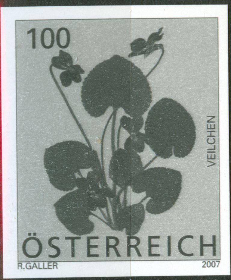 Österreich - Specimen, Schwarzdrucke, Buntdrucke At_2007_blume_100_schwarz_00