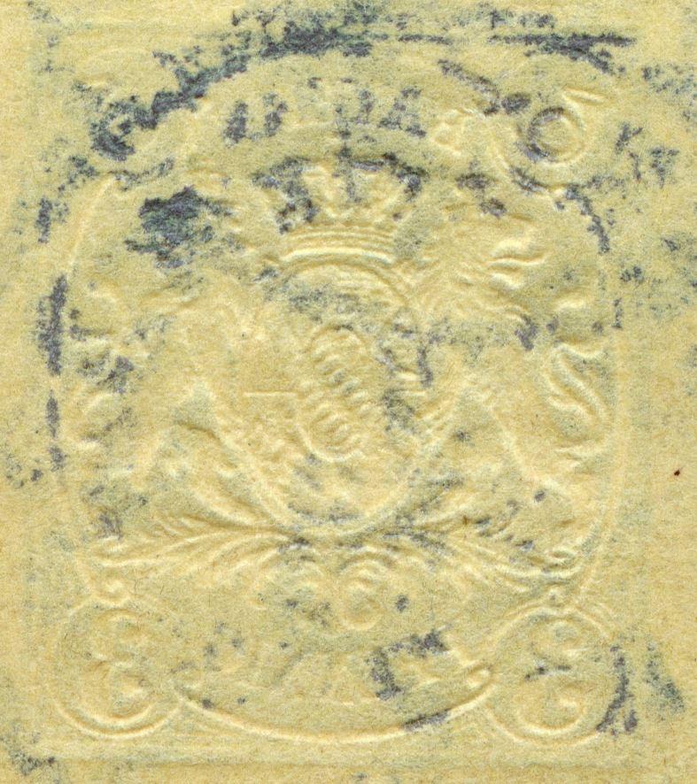 Prägedruck 1860-1900 in der Schweiz und in den deutschen Staaten Bayern_18xx_3pf_pws_102