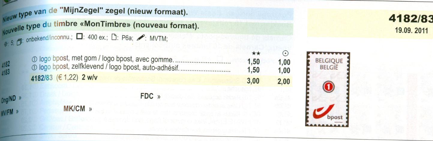 Meine Marke aus Belgien mit Bpost! Be_2011_bpost_1_smal_ocb