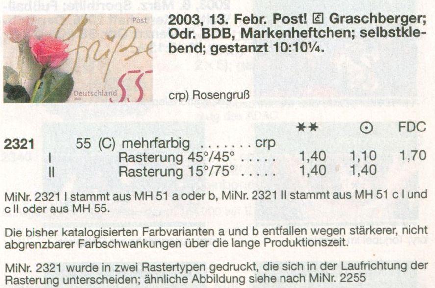 Bund 2003 Rosengruss - Rasterunterschiede! Und mehr! De_2003_rosen_gruss_selbstklebend_michel_01