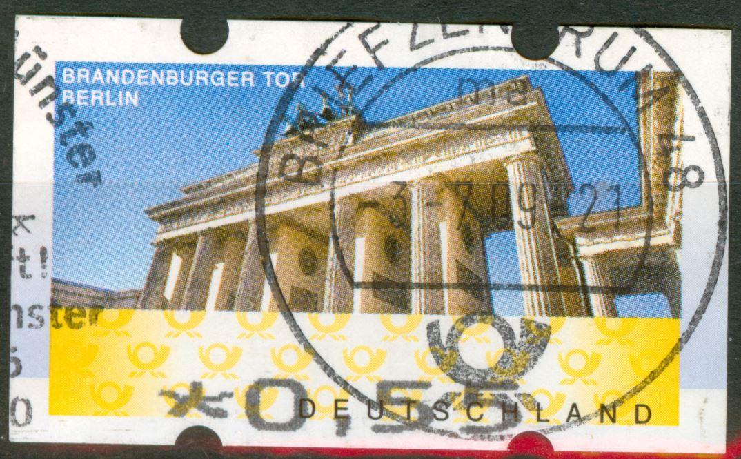 ATM 2008 Rastervarianten nicht  früher in Michel Spezial erwähnt!   De_2008_atm_brandenburgertor_45_00