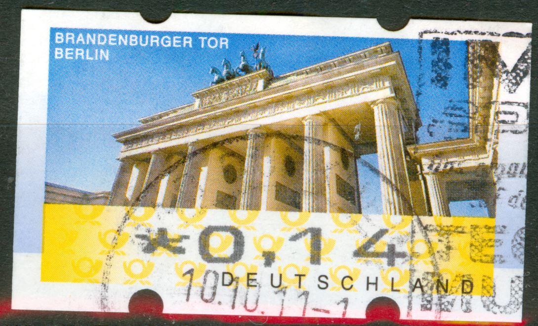 ATM 2008 Rastervarianten nicht  früher in Michel Spezial erwähnt!   De_2008_atm_brandenburgertor_75_00