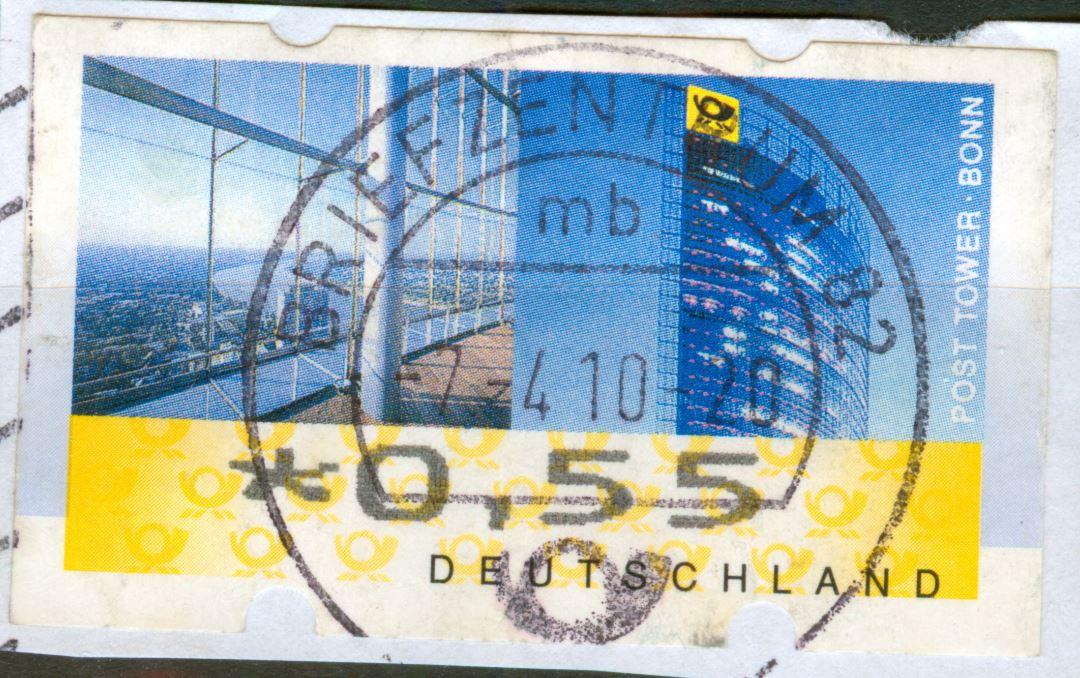 ATM 2008 Rastervarianten nicht  früher in Michel Spezial erwähnt!   De_2008_atm_posttower_45_00