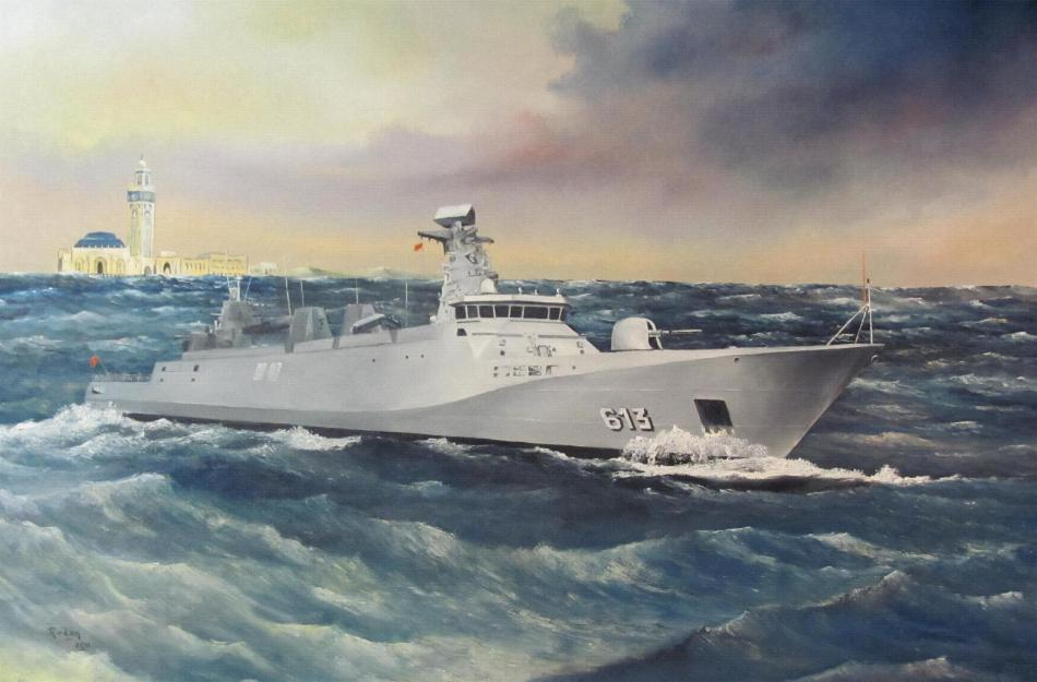 Royal Moroccan Navy Sigma class frigates / Frégates marocaines multimissions Sigma - Page 13 414-1