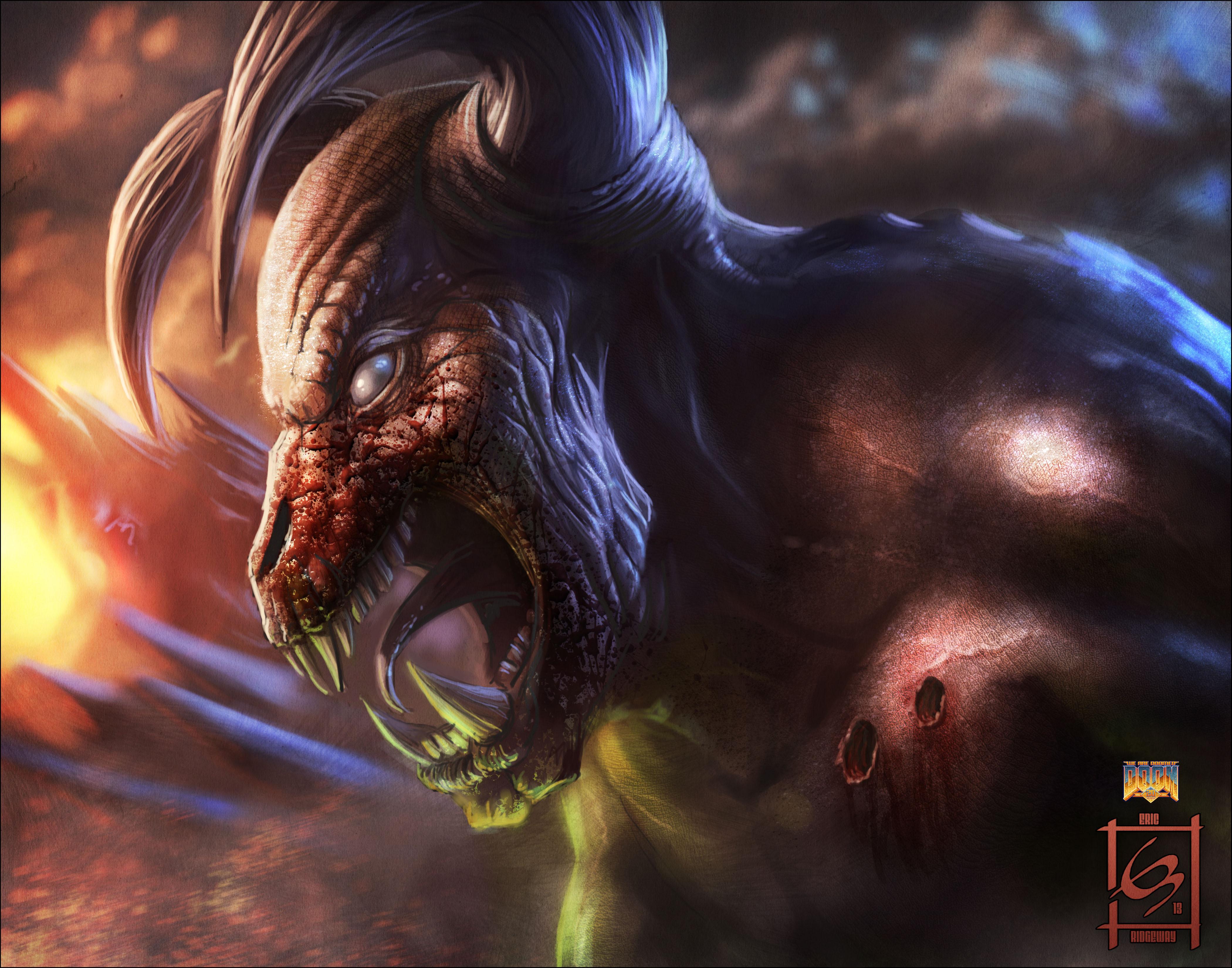 TEMA FLOOD - Página 62 Baron-of-Hell-Doom-Art-Tribute