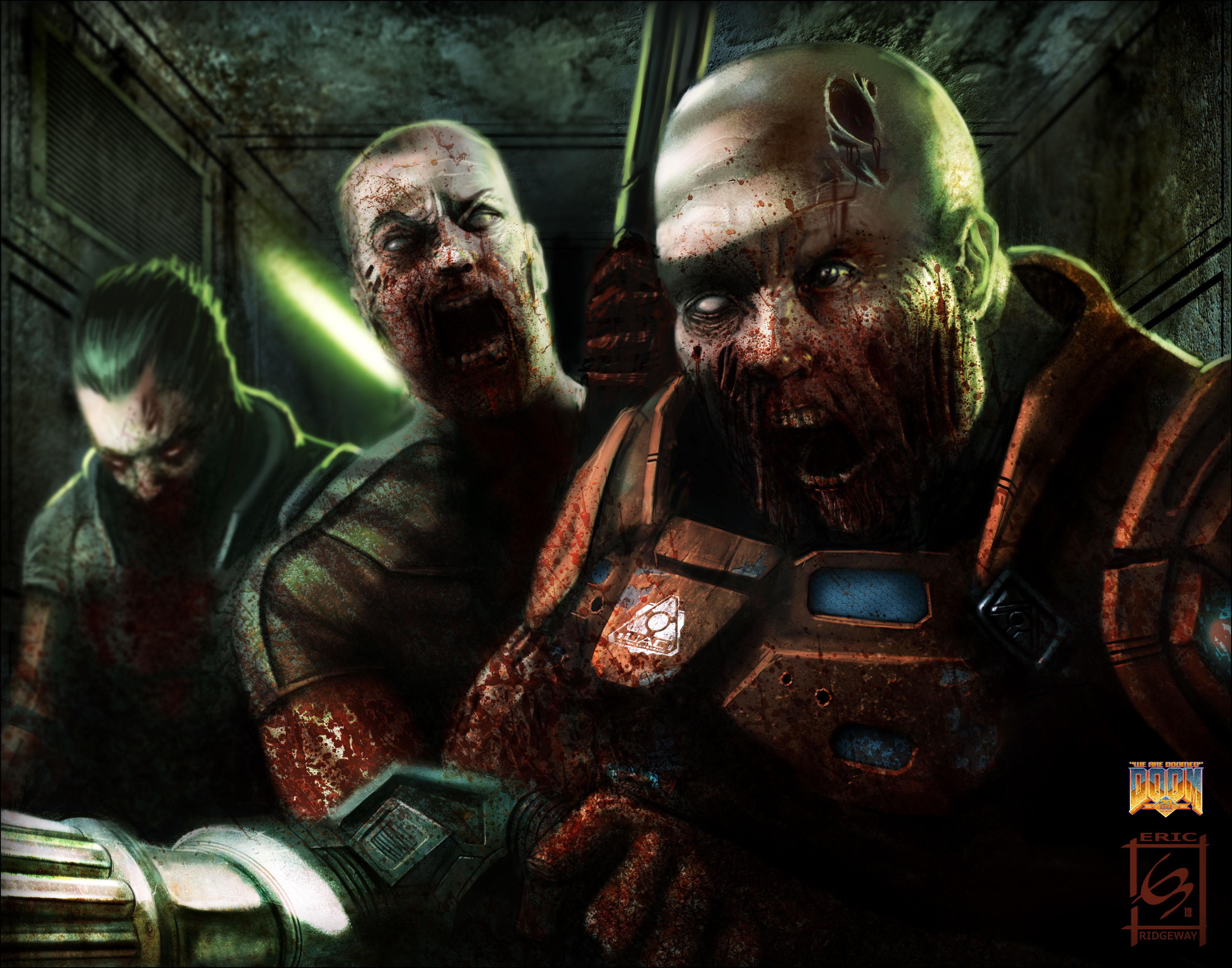 TEMA FLOOD - Página 62 Zombie-Soldiers-Doom-Art-Tribute