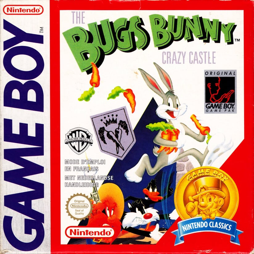 Liste des jeux format classics boîte rouge game boy 2867