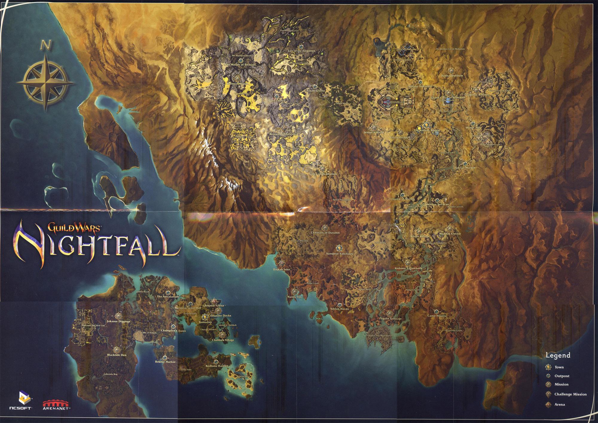 Los mapas más grandes de los videojuegos 2-2nightfallmap