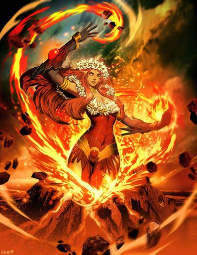 ютуб - Стихия Огонь. Магия большого и малого огня. Все о огненной магии. Свечи и их использование в магии. Путь Ведьмы Огня Pele_by_genzoman-d3984f3