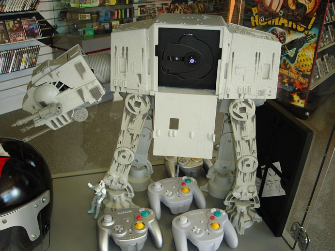 Home Brew, Customs & Créations At-at-gamcube-mod-system
