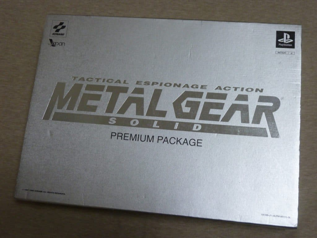 Les plus belles pièces Jap, Sony-Play-Station-METAL-GEAR-SOLID-Premium-Package-Limited-Edition-PS-Japan-USED