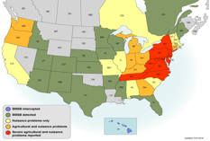 Brown Marmorated Stink Bug — A Pest on the Move Stink-bug-map