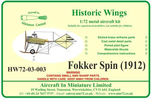 Spin - Fokker Spin III au 1/72ème (scratch) Terminé HW7203003