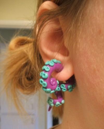 Provocarea 34 - False Plugs Tentacle-earring-plug
