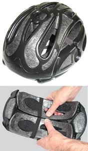 Il casco da bicicletta. PIEGHEVOLE! Foldable Bicycle Helmet. Stash_folding_helmet
