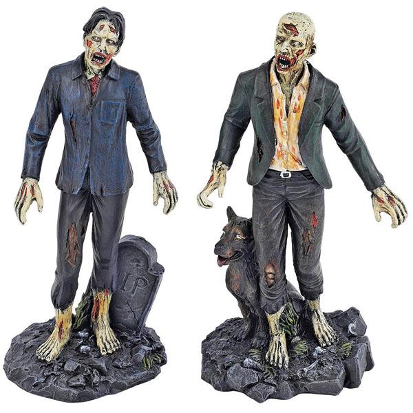merchandising - merchandising y demas coleccionismos...joder!!! Dead-Walking-Zombie-Statue-Set