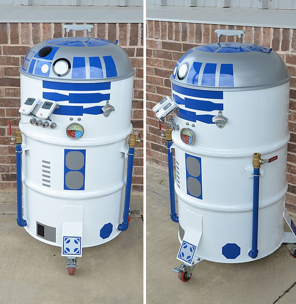 The serial griller (electronic version)... - Pagina 2 R2-D2-BBQ-Drum-Smoker