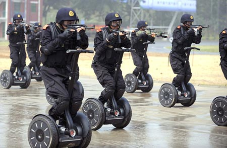 A welcome to the Powers That Be Segway-military