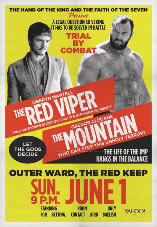 [Compétition] L'adversaire de Brock Lesnar à Summerslam révélé  Game-of-thrones-red-viper-the-mountain-poster-530x768