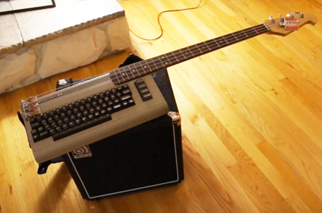 Most random thing you've seen or done today on CB? - Page 5 C64-Bass-keytar