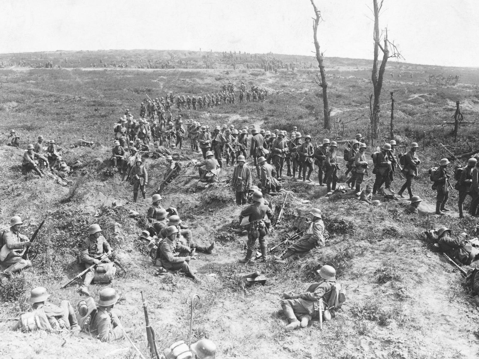 Commémoration 14//18  Troupes-allemandes-sur-le-chemin-des-dames-pendant-la-premiere-guerre-mondiale