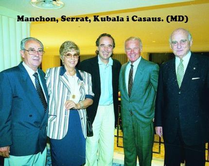 ¿Cuánto mide Joan Manuel Serrat? - Altura Serrat-manchon-kubala-casaus