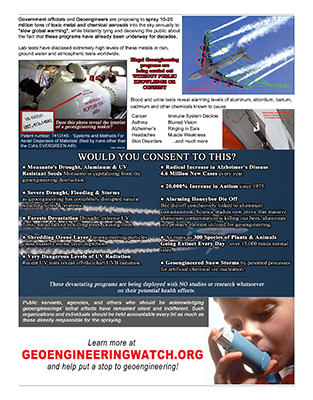 Waking The Masses To The Climate Engineering Assault, Helpful Tools Geoengineering-flyer-back-313x400