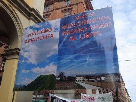The Awakening Grows, Italians Stage Impressive Anti-Geoengineering Protest Bologna-Protest-1-450x338
