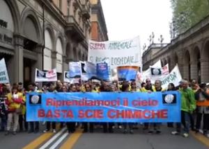 The Awakening Grows, Italians Stage Impressive Anti-Geoengineering Protest Bologna-Protest3-300x215