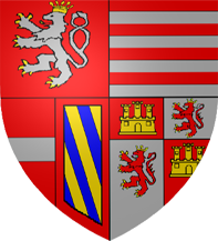 35. Doppeltaler, 2 Taler (120 Kreuzer) 1609, à l'effigie et armorial de l'empereur Rodolphe II de Habsbourg, Ensisheim ArmoiriesRodolpheII