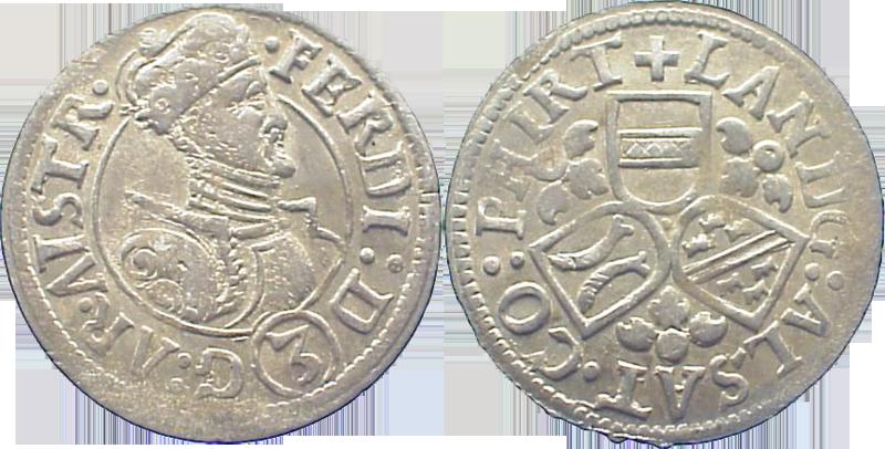05. Groschen (3 Kreuzer) 1564-1595, à l'effigie de l'archiduc Ferdinand II, Ensisheim Groschen1