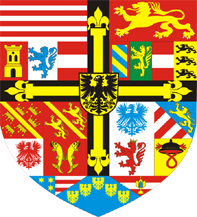 55. Doppeltaler, 2 Taler (120 Kreuzer) 1614, à l'effigie et armorial de l'archiduc Maximilien III de Habsbourg, Ensisheim MaximilienIII