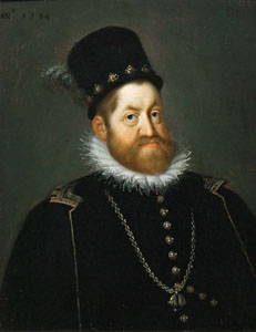 30. Taler (60 Kreuzer) 1608, à l'effigie et armorial de l'empereur Rodolphe II de Habsbourg, Ensisheim RodolpheII