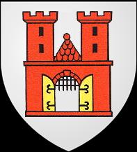 13. Denier (Pfennig) aux deux aigles affrontés et étoile. Atelier d'Offenbourg (Bade). Attribué à la municipalité de Strasbourg   BlasonOffenburg