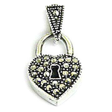 لي ما شرا يتنزه Antique_Marcasite_with_Stone_Sterling_Silver_Jewelry