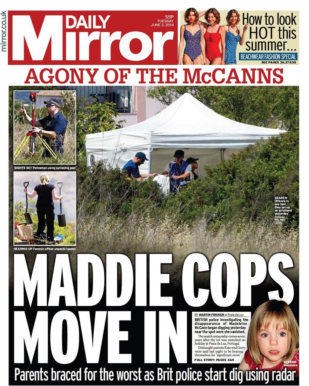 US REPORT: Madeleine McCann mystery solved DailyMirror030614