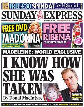 Media Mayhem - MCCANN MEDIA NONSENSE OF THE DAY SundayExpress200909