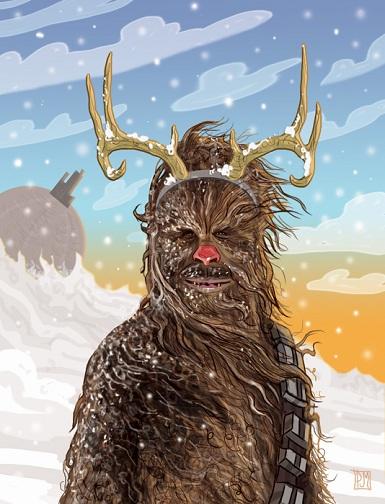 Merry Christmas  Chewbacca-Christmas-Card-by-PJ-McQuade-20121
