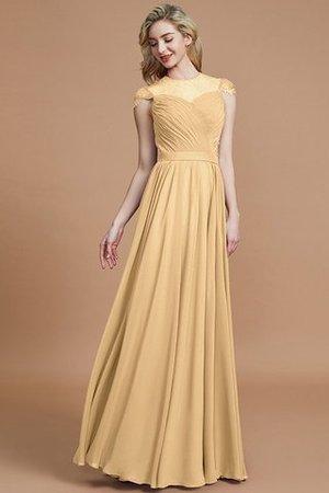 I diversi look sono meravigliosi per le spose 9ce2-rhvt8-abito-da-damigella-tondo-con-manica-corte-principessa-a-terra-a-line