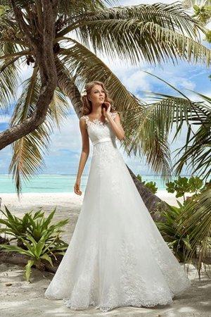 perfettamente abbinato a sottili accessori bianchi  9ce2-zdrdx-abito-da-sposa-allacciato-a-line-con-nastro-v-scollo-lusso