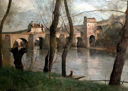 Paesaggi Jean-Baptiste-Camille-Corot-Le-pont-de-Mantes