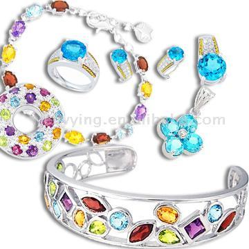 لي ما شرا يتنزه Sterling_Silver_Necklace__Bracelet__Ring__Earring