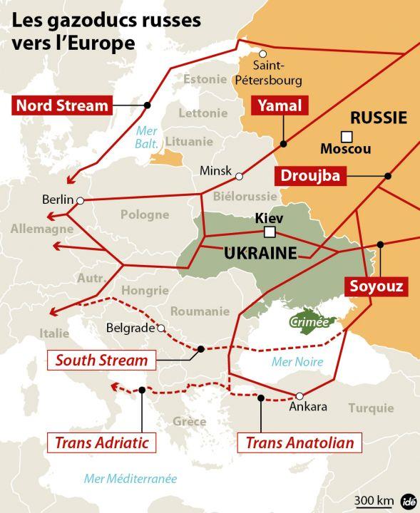 Tensions explosives en Crimée Ukraine-gazoducs