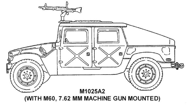 HMMWV et HMMWV Marine Armor Kit (MAK)  - Page 5 M1025a2-line001