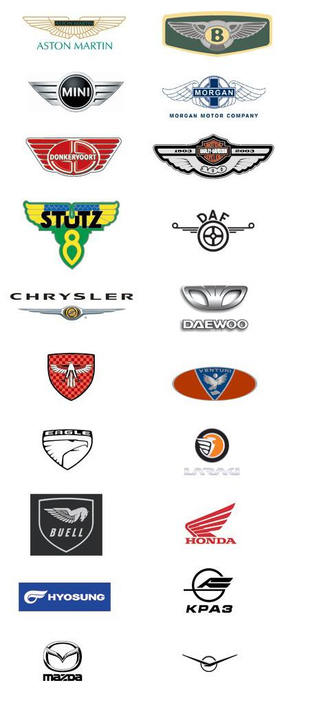 Авто-Логотипы. Интересные закономерности. Wings2