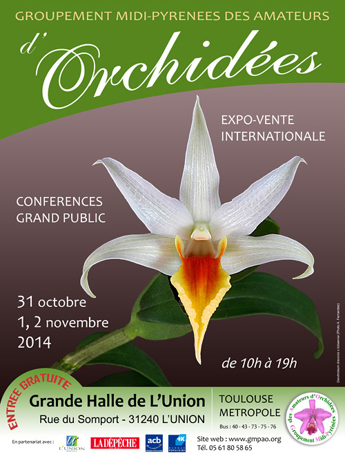 Expo-vente d'orchidées à L'Union - Toulouse - 31 Octobre et 1,2 Novembre 2014 Affiche_2014_rectifie