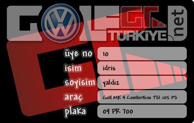 Golf Türkiye - Türkiye`nin Lider VolksWagen Golf Kulübü Golf-gt-kimlik-karti
