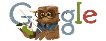 Une fermeture éclair sur la page d'accueil de google Teachers_Day-2012-hp
